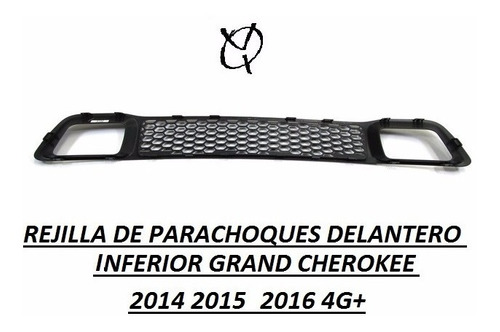rejilla parachoques delantero grand cherokee 2014 2015 4g+