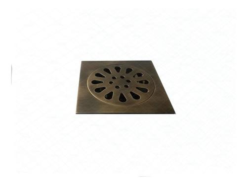 rejilla piso  10x10 bronce antiguo