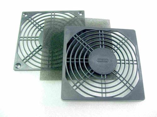 rejilla plástica con filtro cooler fan ventilador 120x120mm