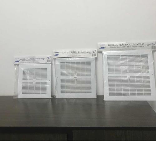rejilla retorno plástica taurus extractor aire 6 8 10 pulg