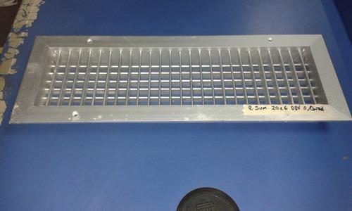 rejilla suministro 20x6 d/d vertical s/control