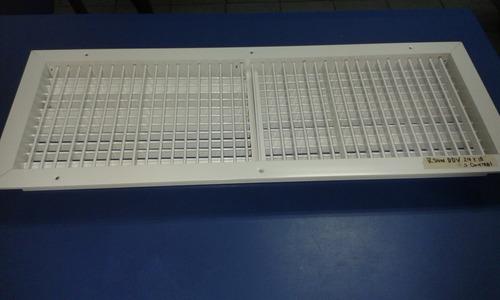 rejilla suministro 29x10 d/d.v s/control (anodizada blanca)