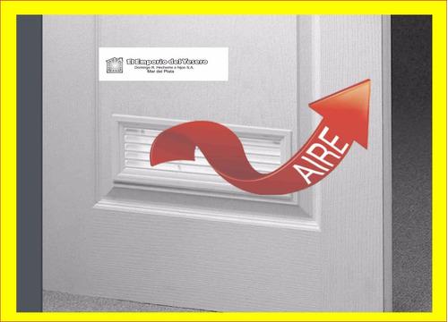 rejilla ventilacion durlock 140x125 mm. plana blanca