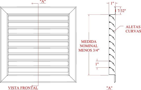 Rejillas de aluminio para aire acondicionado y extractores for Rejillas aire acondicionado regulables