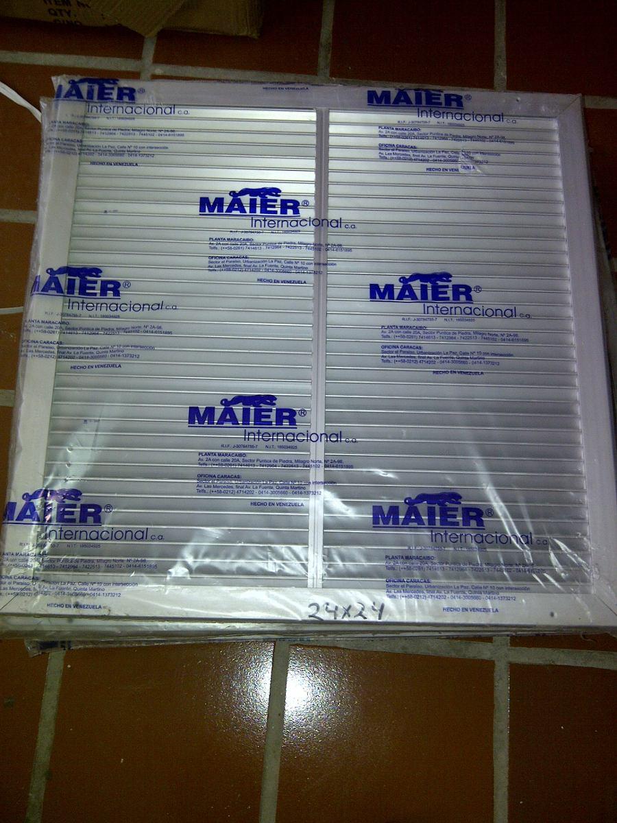 Rejillas retorno 24 x 24 aire acondicionado central bs for Rejillas aire acondicionado regulables
