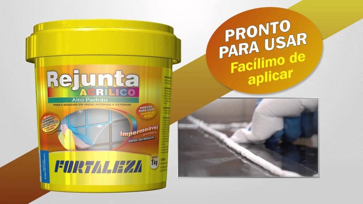 Rejunte acr lico areia piscina porcelanato 1kg fortaleza for Piscina de acrilico