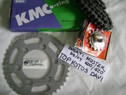 relação completa ducati monster 600 620 99/04 - vaz + kmc