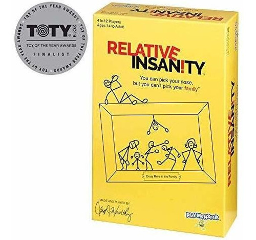 relative insanity party game acerca de los parientes locos -