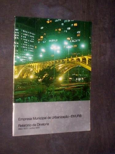 relatório urbanização sp diretoria emurb 1975 a 1979