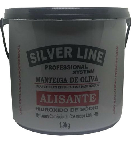 relaxante alisante profissional silver line 1,9 kg original