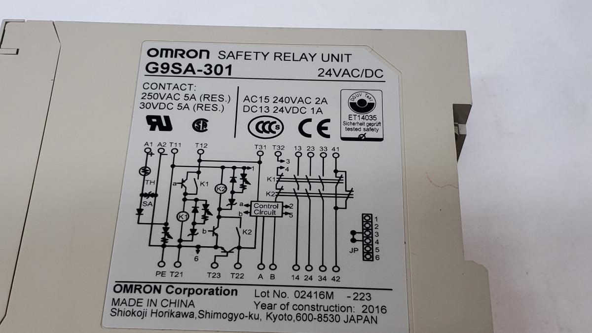 Relay De Seguridad Omron G9sa-301 Power Industrial - $ 1,500.00 on