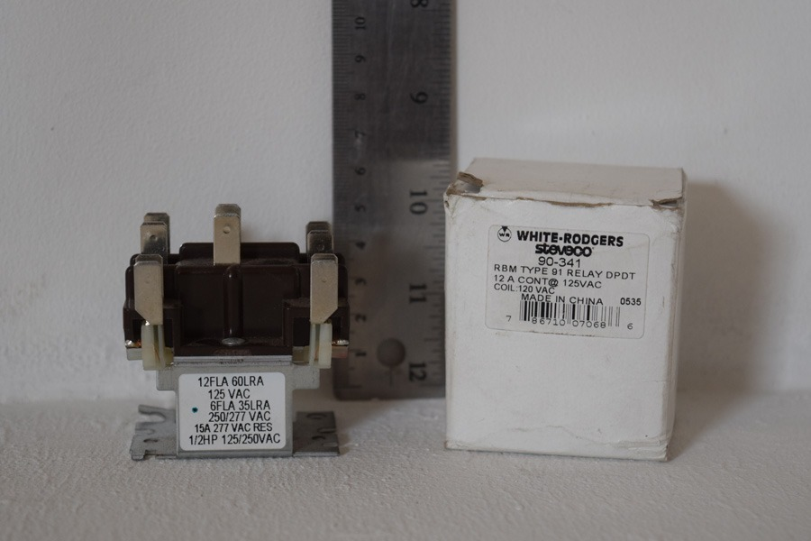 Relay Rbm Type 91 90-341 Coil White-rodgers on