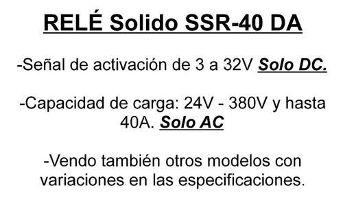 relay rele solido fotek 3-32vdc 24-380 vac 40a ssr dc ac emn