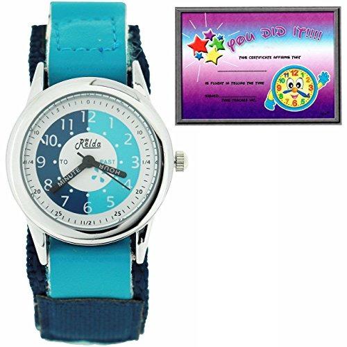relda time teacher light blue easy fasten niños niños niñ