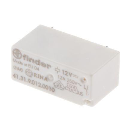 relé 2 contatos reversíveis 12vdc / 12a x 250v | finder