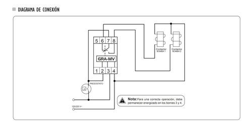 rele alternador de bombas hidroneumáticos 120v 220v exceline