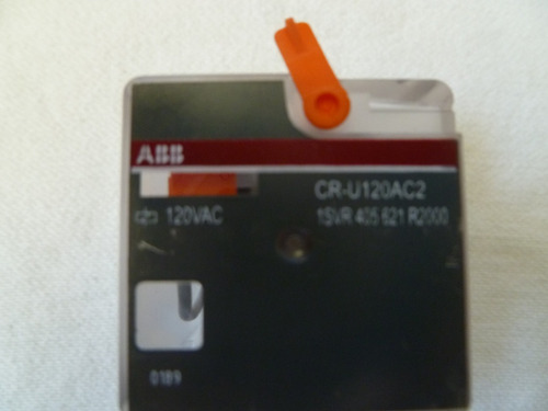 rele aux enchufable abb de 8 pines cr-u120ac2 120vac c/base
