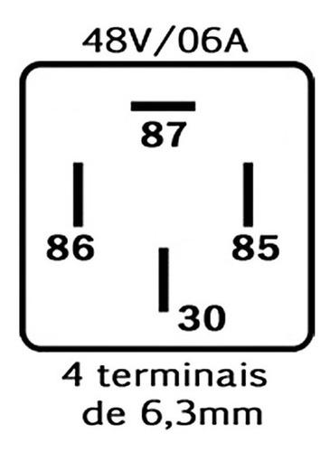 relé auxiliar 4 terminais 48v na empilhadeira uso geral