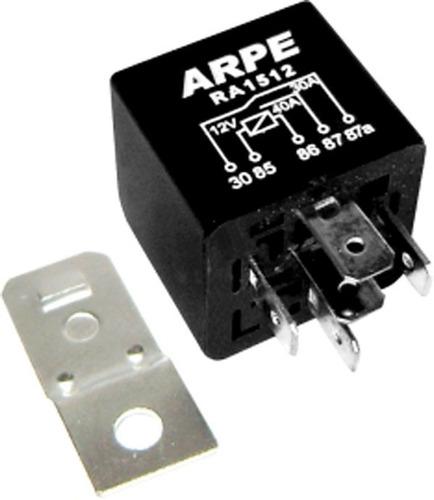 relé auxiliar universal 5 pinos 40amp 30-12v 10-24v c/suport