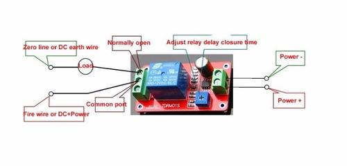 relé con temporizador 12 v ajustable de 0 a 20 segundos