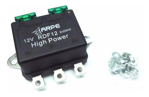 relé duplo farol 500w p/ lâmpadas super branca novo na caixa