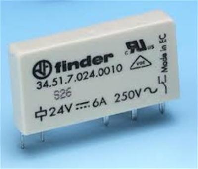 rele finder 345170240010 6 amperes 24v pci  (6 pçs )