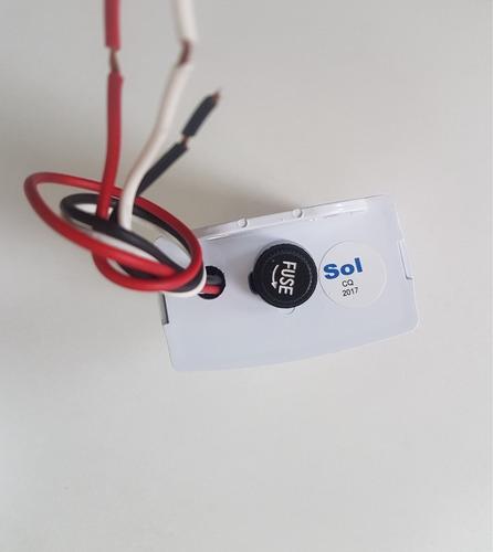 relé fotoeletrico 12v 10a fotocelular automação de lampada