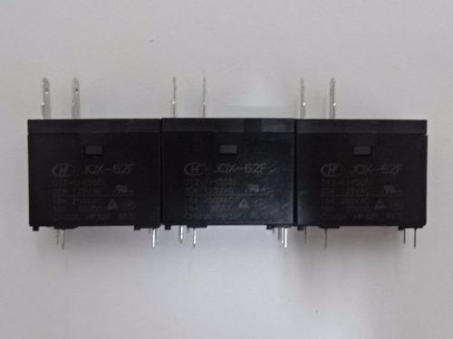 relé hongfa hf jqx-62f 012-1h(555) 20a (kit com 03 unidades)