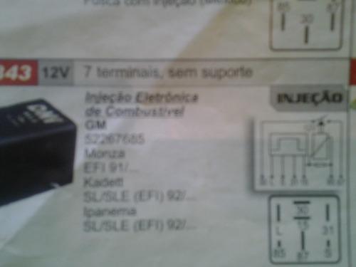 rele injeção eletronica 7terminais monza, kadett 92/.  efi
