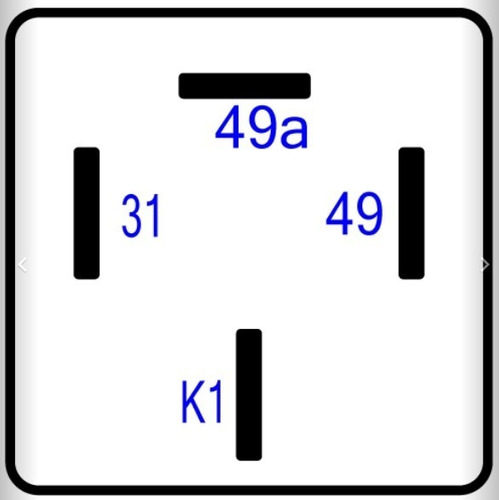 rele luces intermitentes 24v. mercedes benz 3885448032