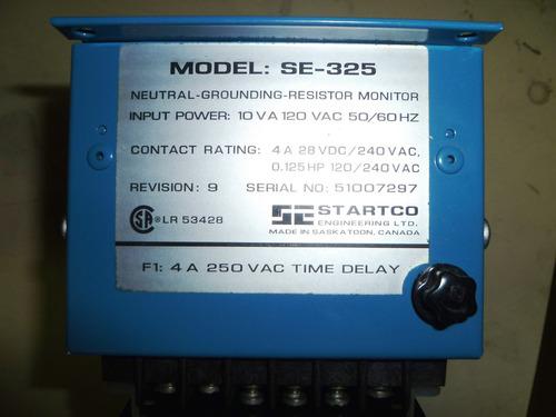 rele monitor de resistencia puesta a tierra startco se-325
