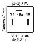 relé pisca 12v 21w 3 terminais original vw 2r0953231