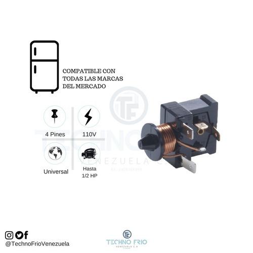 rele relay corto para nevera 1/6 hp 110v 5 unds
