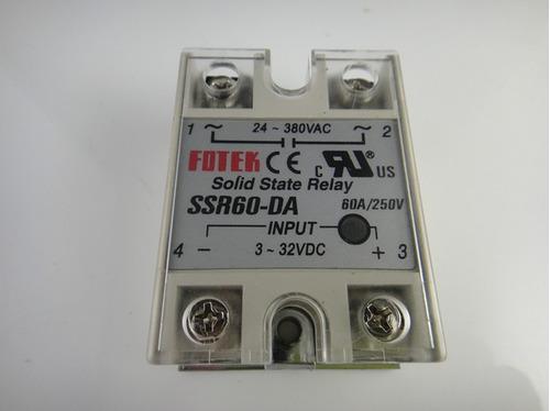 rele relay estado solido ssr-60da 60a 60a 3-32vdc 24-380vac