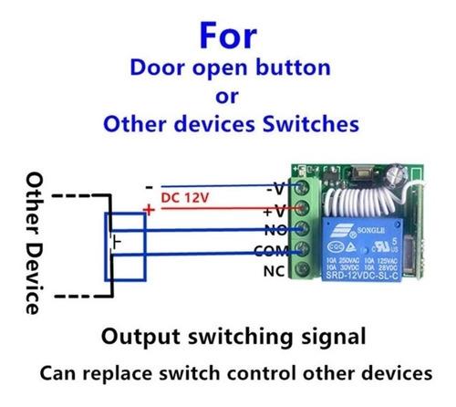 rele rf 1ch 12v + controle (escolher modelo no anúncio)