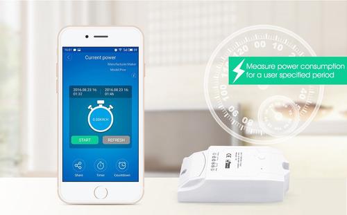 relé smart home control consumo de energía wifi - domotica