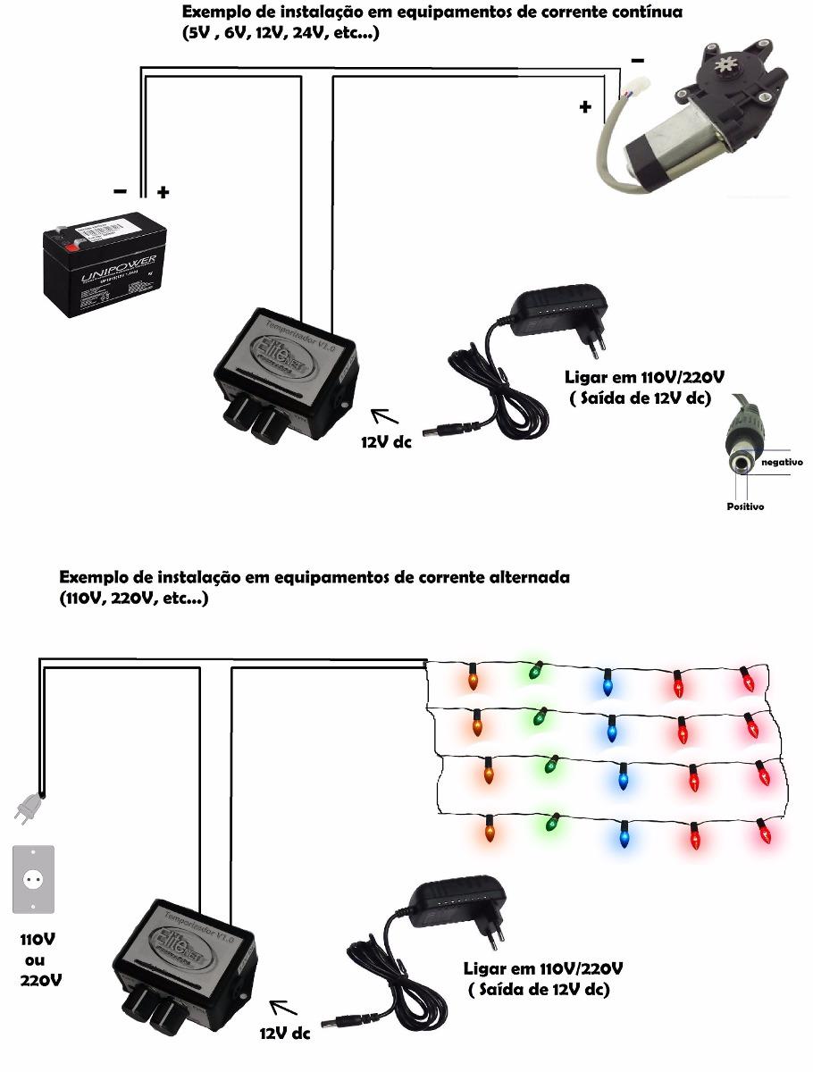 rel u00e9 temporizador eletr u00f4nico c u00edclico circuito controle