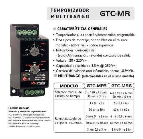 rele temporizador multirango exceline multivoltaje gtc-mr6