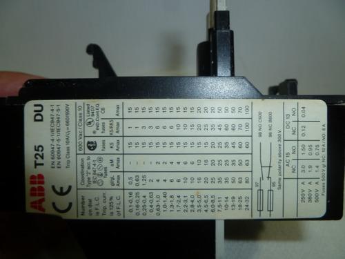 rele termico de sobrecarga abb ta25du6,5. de 4,5 a 6,5  amp