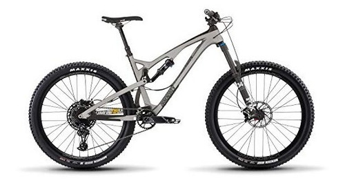 release 4c carbon full suspension mountain bike, silver, 17