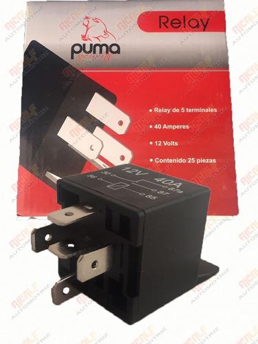 relevador relay puma 5 patas 40a 12v