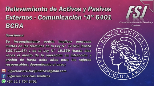 relevamiento activos y pasivos externos comunicación a 6401