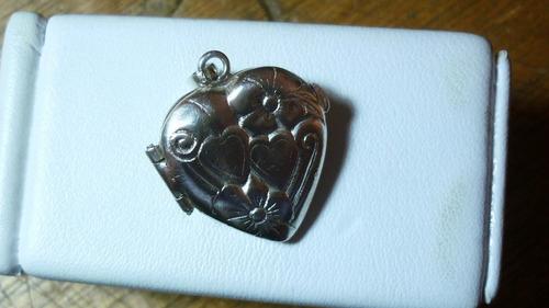 relicario escapulario de plata  cadenas oro joyas fina