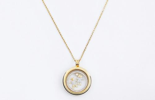 relicário ouro colar