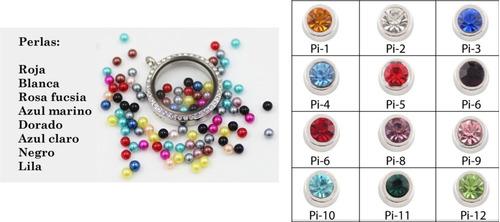 relicarios lockets 8 charms dijes cadena personalizable