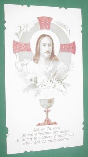 religion estampita litografia jesus jesucristo caliz