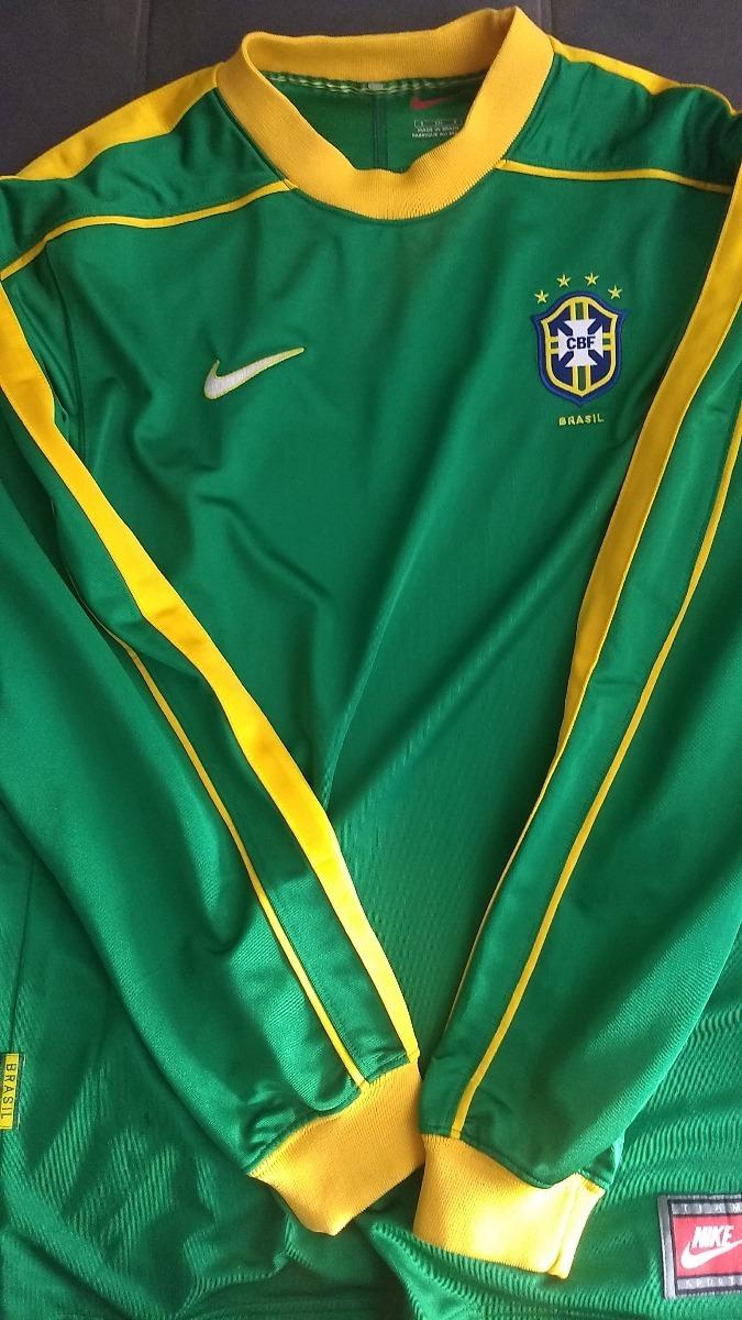 b658faa330721 Reliquia Camisa Oficial Nike Seleção Brasileira Manga Longa - R ...