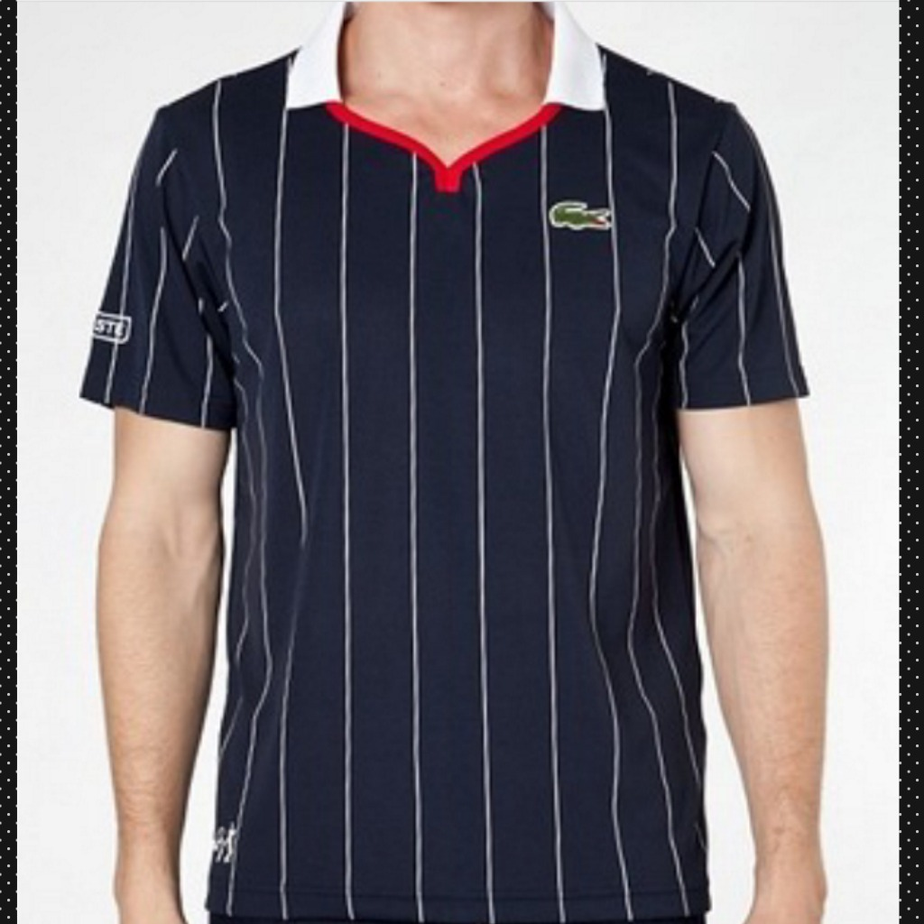 d4c5aa1fab678 Reliquia ! Camisa Polo Lacoste Edição Andy Roddick Gola V - R  379 ...