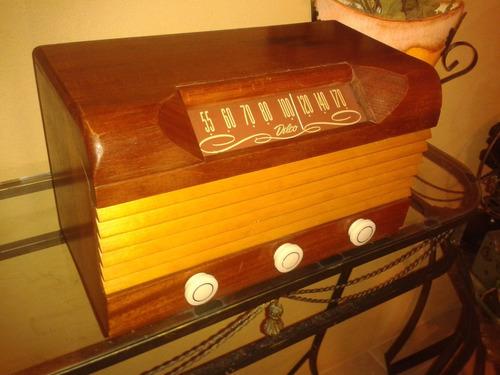 relíquia: rádio delco model r1229 wood case - indiana/1947