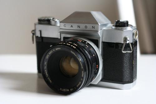 reliquia. rara camera canonflex rp slr 35mm - 1960 e acesso
